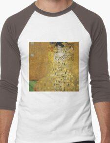 Gustav Klimt  - Portrait of Adele  Men's Baseball ¾ T-Shirt