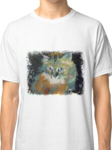 Cat Face Drawing T Shirt Men Meow Art Animal Casual Tank Top Kitty Lover Tee Classic T-Shirt