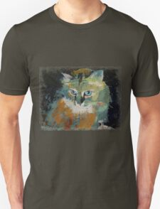 Cat Face Drawing T Shirt Men Meow Art Animal Casual Tank Top Kitty Lover Tee Unisex T-Shirt