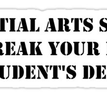 Martial Arts Student Print Sticker