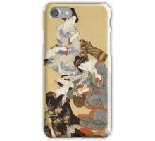 Vintage famous art - Hokusai Katsushika - Five Beautiful Women iPhone Case/Skin
