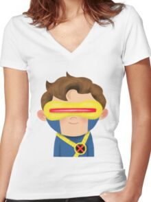 X-Men Animated Series: Cyclops Women's Fitted V-Neck T-Shirt