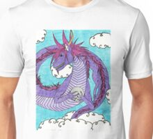 Purple Oriental Dragon Unisex T-Shirt