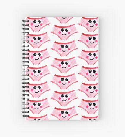 Cute Gouache Panties Spiral Notebook