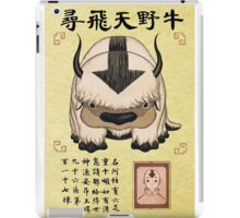 Aang and Appa Wanted Poster iPad Case/Skin