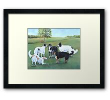 Borzoi Play Time Framed Print