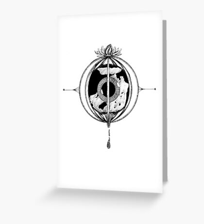 Cry the world Greeting Card
