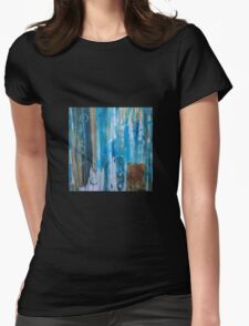 Untitled in blue, green, and orange Womens Fitted T-Shirt