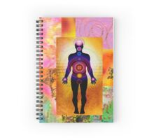 Textured chakra figure Spiral Notebook