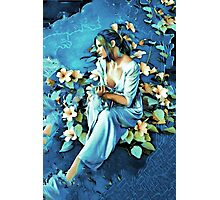 GIRL AND FLOWERS 7D Photographic Print