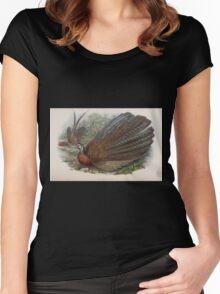 Birds of Asia John Gould 1883 V1 V7 510 Argusianus Argus Women's Fitted Scoop T-Shirt