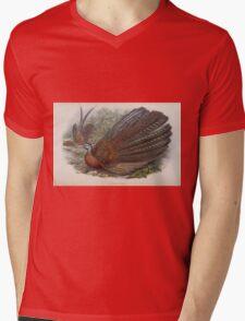 Birds of Asia John Gould 1883 V1 V7 510 Argusianus Argus Mens V-Neck T-Shirt