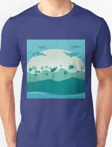 Lonely palms on tropic beach T-Shirt