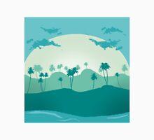 Lonely palms on tropic beach Unisex T-Shirt