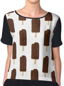 Summertime Chocolate Ice Lolly Graphic Chiffon Top