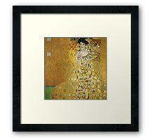 Gustav Klimt - Adele .  Golden Gustav Klimt  Framed Print