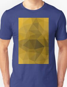 Gold polygonal vector pattern T-Shirt