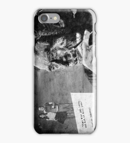 BUKOWSKI - LOVE version - black iPhone Case/Skin