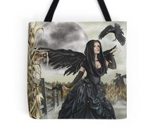 Raven Fairy Crow Witch Blackbird Corn Moon Tote Bag