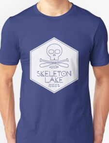 Skeleton Lake (white print) Unisex T-Shirt