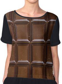 Chocolate Bar Chiffon Top