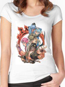 Jojo's bizarre adventure Women's Fitted Scoop T-Shirt