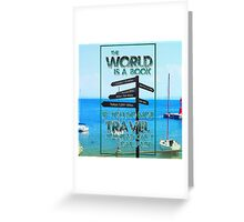 The world is a book! Greeting Card