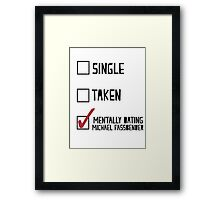 Dating Michael Fassbender Framed Print