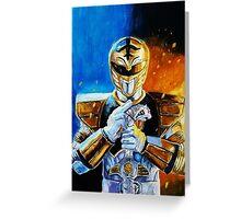 White Ranger Greeting Card