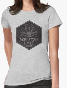 Skeleton Lake (black print) Womens Fitted T-Shirt