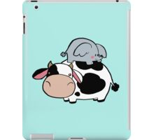 Little Elephant and Cow iPad Case/Skin
