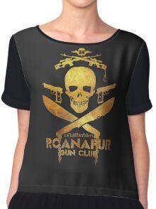 Black Lagoon ROANAPUR GUN CLUB black Chiffon Top