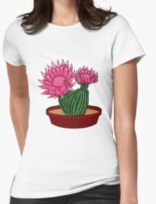 Christmas Cactus Womens Fitted T-Shirt