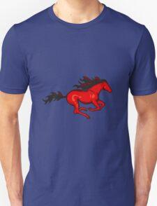 Red running horse T-Shirt
