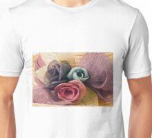 Raffia Roses on Hat  Unisex T-Shirt