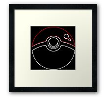 °GEEK° PokeBall Neon Framed Print