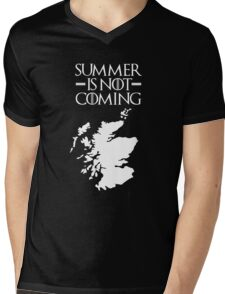 Summer is NOT coming - scotland(white text) Mens V-Neck T-Shirt