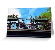 Red Bicycle Amsterdam Greeting Card