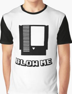 Retro game cartridge Blow me Graphic T-Shirt