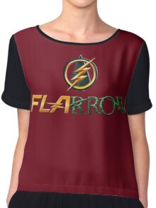 The Flash and Arrow (Team Flarrow) Chiffon Top