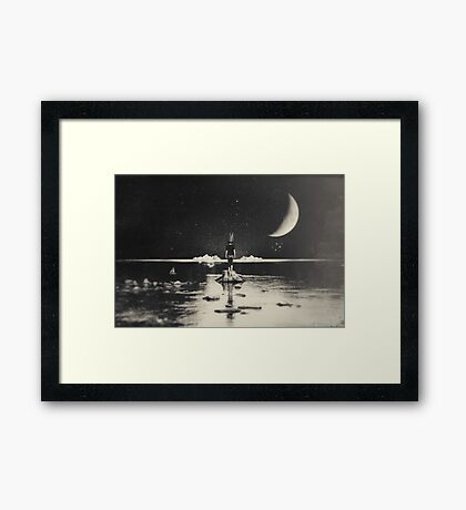 The Day Has Eyes, The Night Has Ears Framed Print