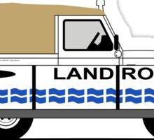 Land Rover Defender 90 Soft Top (The Floating Ninety) Sticker