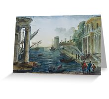 after Claude Lorrain by Edward Scale Greeting Card