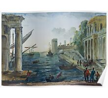 after Claude Lorrain by Edward Scale Poster
