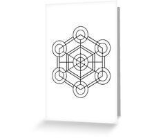 Geometric Cube 1 Greeting Card