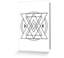 Geometric Triangles 4 Greeting Card