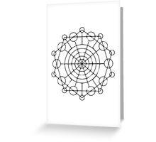 Geometric Circles 2 Greeting Card