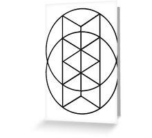 Geometric Circles 3 Greeting Card