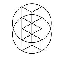 Geometric Circles 3 Photographic Print