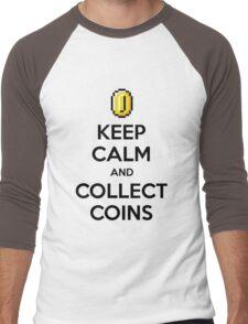 Keep Calm And Collect Coins Men's Baseball ¾ T-Shirt